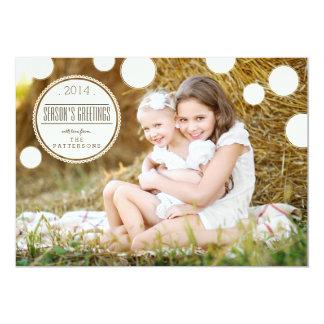 Sweet Ivory Dots Season's Greetings Photo Card