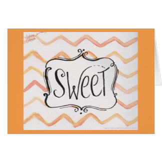 """SWEET"" JOB WELL DONE AND HAPPY FOR YOU GREETING CARD"