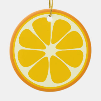 Sweet Juicy Orange Tropical Citrus Fruit Slice Christmas Ornament