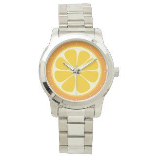 Sweet Juicy Orange Tropical Citrus Fruit Slice Watch