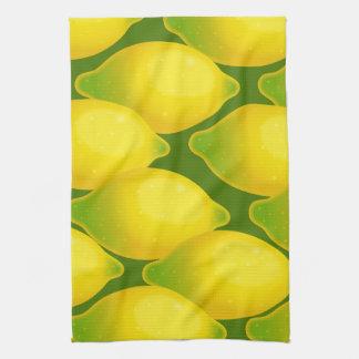 Sweet Juicy Yellow Citrus Lemon Wallpaper Design Towels