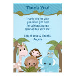 Sweet Jungle Babies Shower Thank You (FLAT style) Personalized Invitation