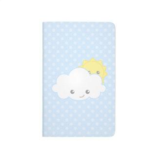 Sweet Kawaii Cloud and Sun Journal