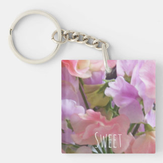 Sweet keyring Double-Sided square acrylic key ring