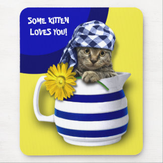 Sweet Kitten. Fun Mother's Day Gift Mousepads