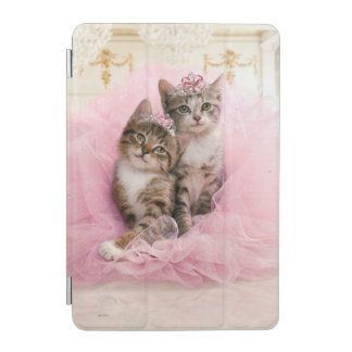 Sweet Kittens in Tiaras and Pink Sparkly Tutu iPad Mini Cover