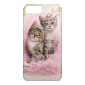 Sweet Kittens in Tiaras and Pink Sparkly Tutu iPhone 8 Plus/7 Plus Case