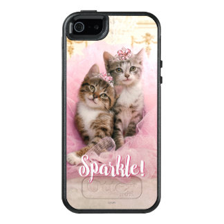 Sweet Kittens in Tiaras and Pink Sparkly Tutu OtterBox iPhone 5/5s/SE Case