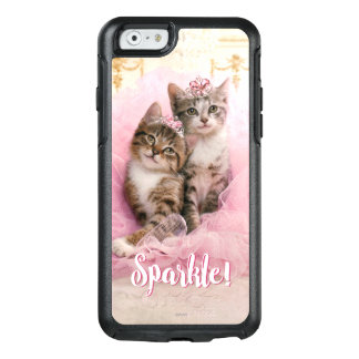 Sweet Kittens in Tiaras and Pink Sparkly Tutu OtterBox iPhone 6/6s Case