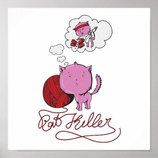sweet kittie or rat killer poster