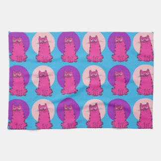 sweet kitties multiple color tint funny cartoon tea towel