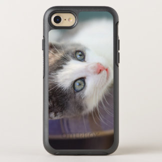 Sweet Kitty In Plaid Bed OtterBox Symmetry iPhone 8/7 Case