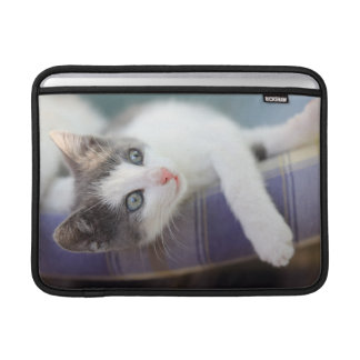 Sweet Kitty In Plaid Bed Sleeve For MacBook Air
