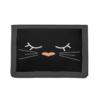 Sweet Kitty Tri-fold Wallets