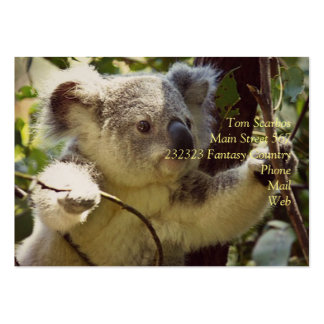 sweet Koala baby Large Business Cards (Pack Of 100)
