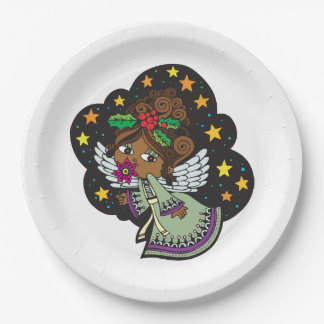 Sweet Kwanzaa Angel Kwanzaa Party Paper Plates