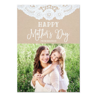 Sweet Lace | Mother's Day Photo Card