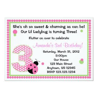 Sweet Ladybug Three Card