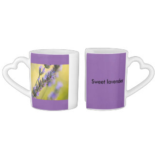 Sweet lavender coffee mug set
