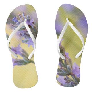 Sweet lavender flip flops