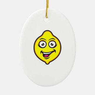Sweet Lemon Ceramic Oval Decoration