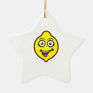 Sweet Lemon Ceramic Star Decoration