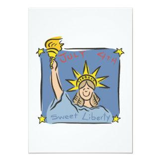 Sweet Liberty 13 Cm X 18 Cm Invitation Card