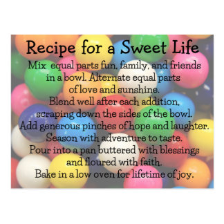 Sweet Life Colorful Gumballs Postcard