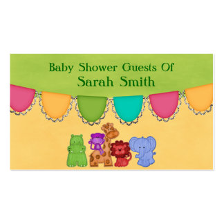 Sweet Lil Jungle Animals Safari Baby Shower Pack Of Standard Business Cards
