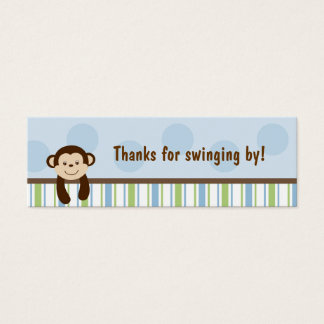Sweet Lil Monkey Party Favor Gift Tags Mini Business Card