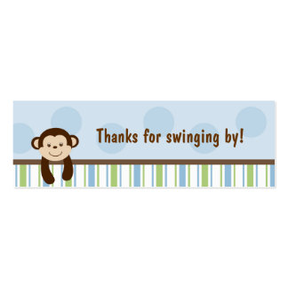 Sweet Lil Monkey Party Favor Gift Tags Pack Of Skinny Business Cards