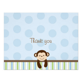 Sweet Lil Monkey Thank You Note Cards Invites
