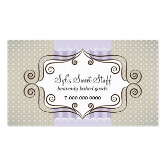 Sweet Lilac and Polka Dots Pack Of Standard Business Cards
