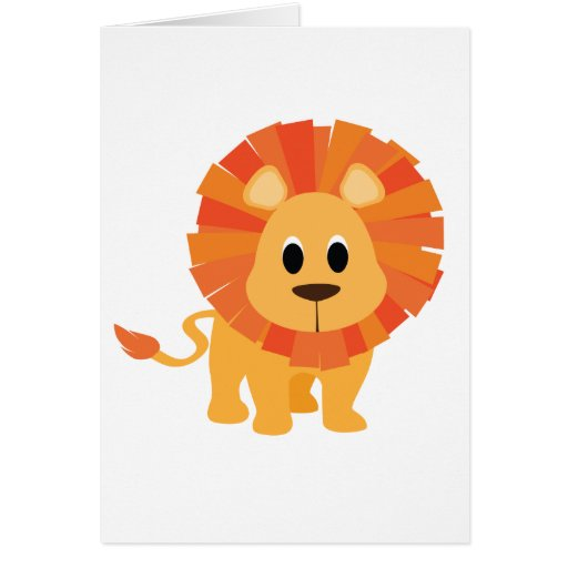 Sweet Lion Greeting Cards