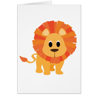 Sweet Lion Greeting Card