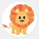 Sweet Lion Round Sticker