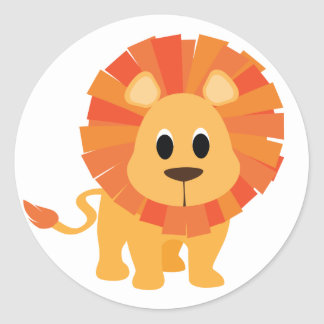 Sweet Lion Round Sticker