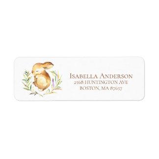 Sweet Little Bunny Baby Shower Address Label
