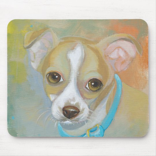 Sweet little Chihuahua puppy dog tries to blend in Mouse Mat