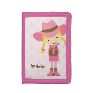 Sweet Little Cowgirl Trifold Wallet