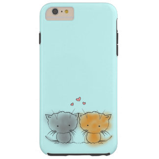 Sweet Little Cuddly Kittens Orange and Grey Tough iPhone 6 Plus Case