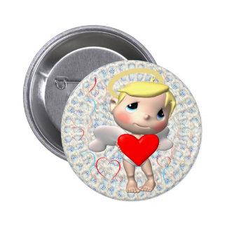 Sweet Little Cupid 6 Cm Round Badge
