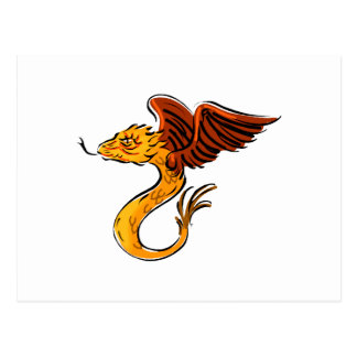 Sweet little Flying Dragon Postcards