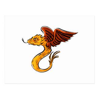 Sweet little Flying Dragon Postcards