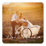 Sweet Little Heart Wedding Thank You Flat Card 13 Cm X 13 Cm Square Invitation Card