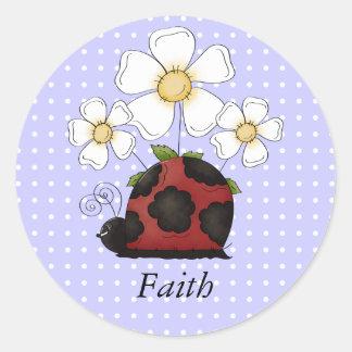 Sweet Little Ladybug Polkadot Name Sticker