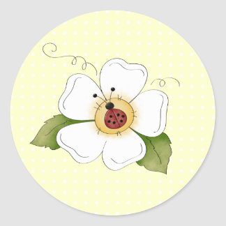 Sweet Little Ladybug Polkadot Sticker