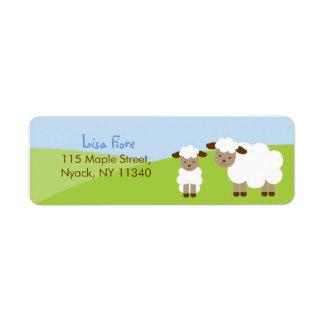 Sweet Little Lamb Baby Shower Address Labels