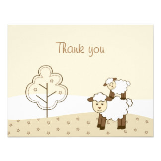 Sweet Little Lamb Thank You Note Cards Invite