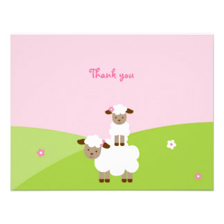 Sweet Little Lamb Thank You Note Cards Invites